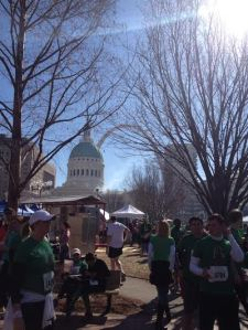 It turned out to be a beautiful day in the STL for a race