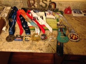 All my racing medals so far!