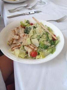 Lauren's chicken Caesar salad