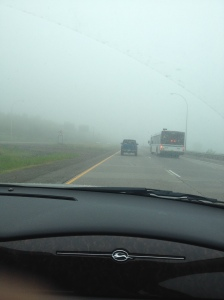 The fog was awful!