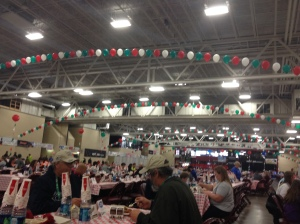 Spaghetti dinner at the expo