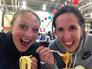 We had lots of fun carb-loading before the race!