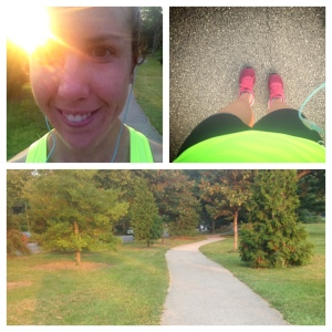 Feeling great after a run!