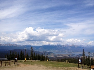 On the top of a mountain in Keystone, CO