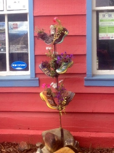 A shoe tree outside a running store in Breckinridge, CO!