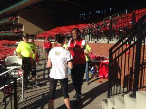 Getting my medal from Jackie Joyner-Kersee!