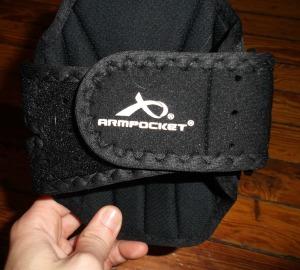 Adjustable strap on armband.