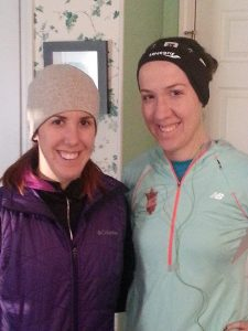 Before our long run on Saturday!