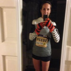 Pre-race selfie (sorry it's blurry!)