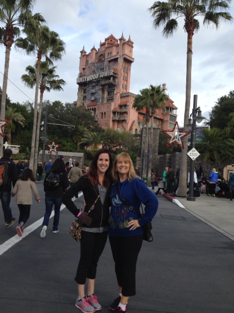 My Aunt Dorie and I before riding the Tower of Terror!