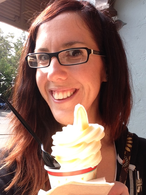 With Dole Whip in Magic Kingdom, very delicious!