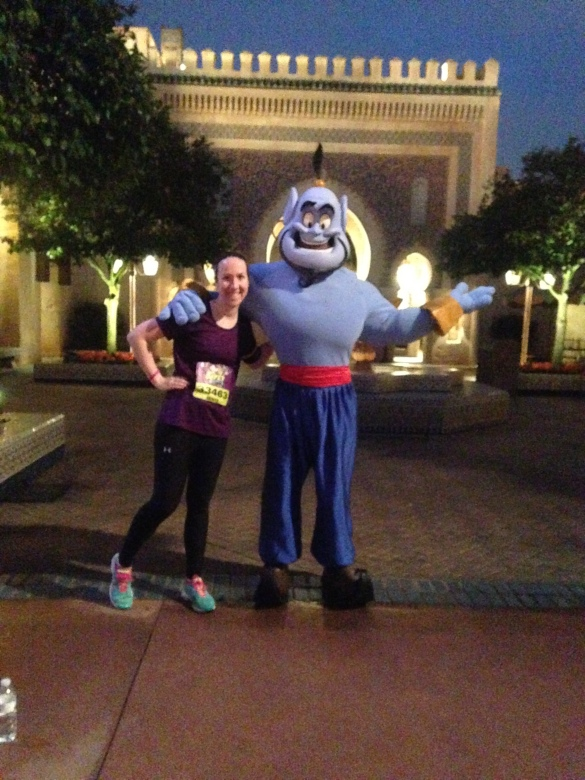Loved getting pictures with Disney characters during and after the races!