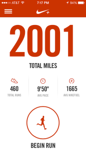 Over 2000 miles since I started running in 2012!