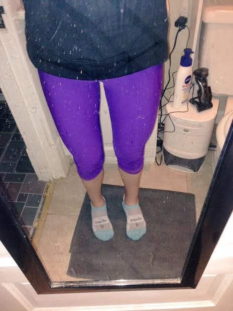 My awesome purple capris!