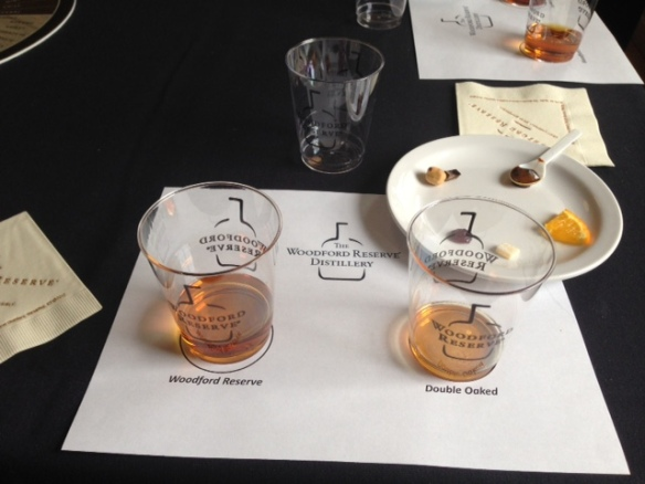 "Our bourbon ""tasting"" at the Woodford Reserve Distillery"