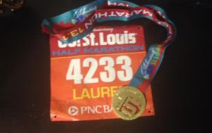 My race bib with my awesome new medal!